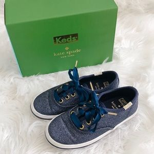 Keds Kate Spade Champion Glitter Navy Sneakers 9.5